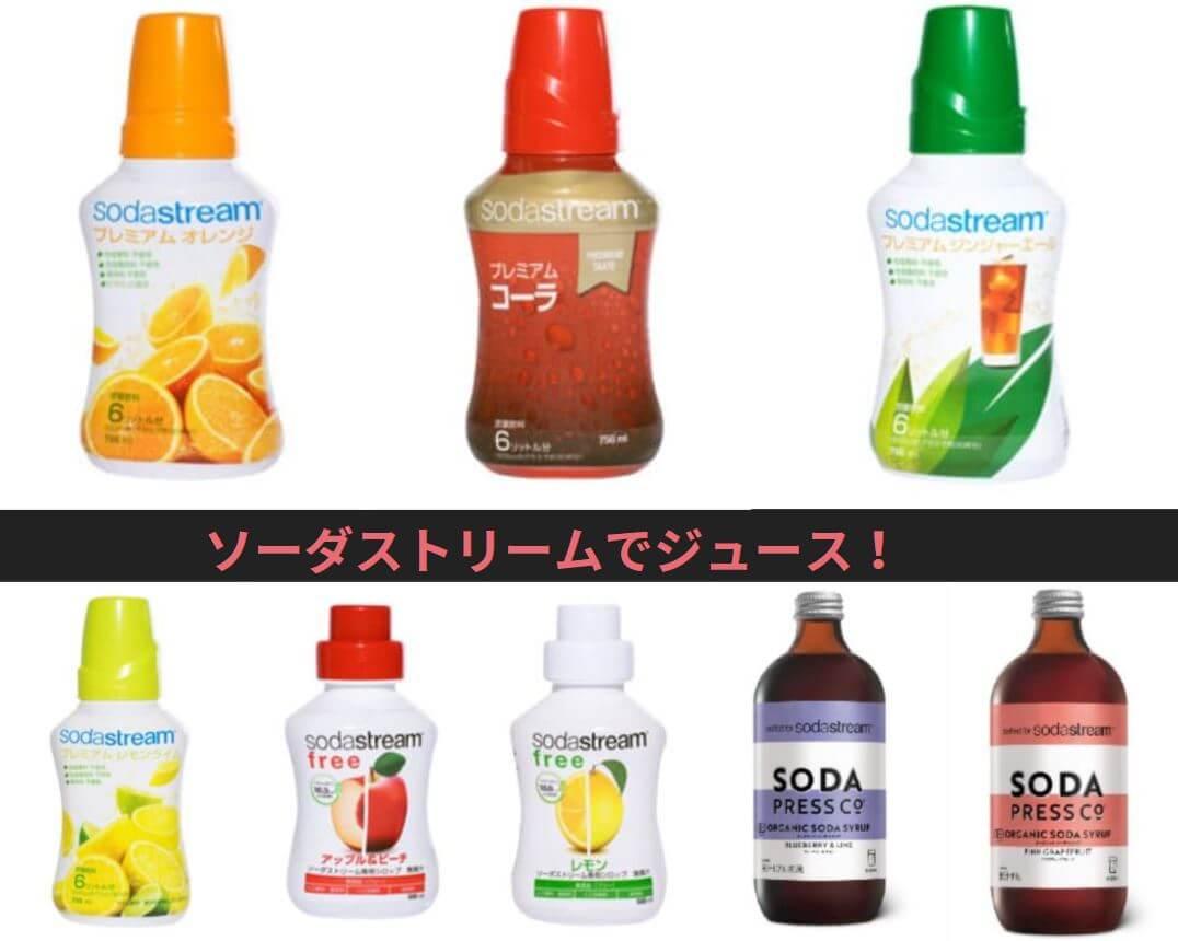 ソーダストリーム ジュース